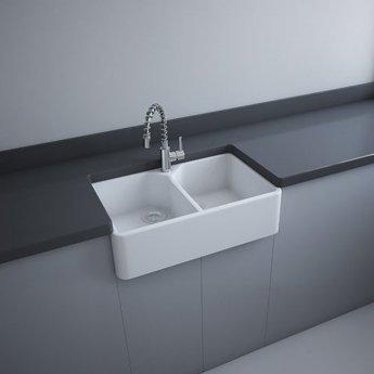RAK Gourmet 10 Ceramic Belfast Kitchen Sink 2.0 Bowl 800mm L x 500mm W - White