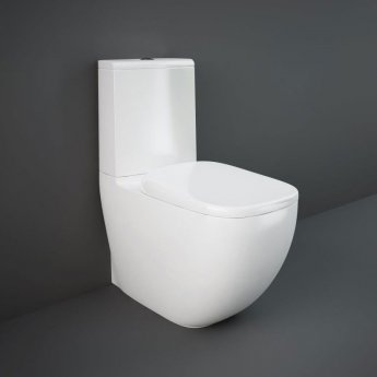 RAK Illusion Close Coupled Back to Wall Rimless Toilet with Soft Close Seat - Alpine White