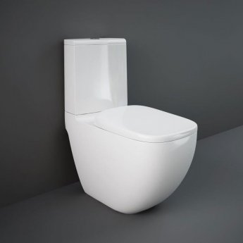 RAK Illusion Back to Wall Rimless Toilet with Soft Close Seat - Alpine White