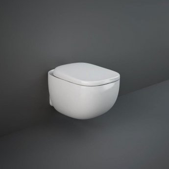 RAK Illusion Wall Hung Rimless Toilet with Soft Close Seat - Alpine White