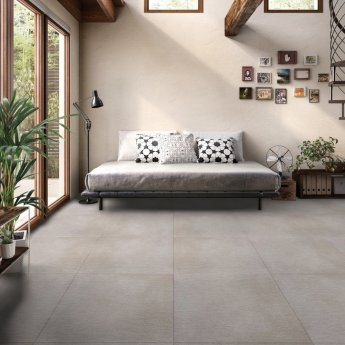 RAK Lava Concrete Matt Tiles - 600mm x 600mm - Light Grey (Box of 4)
