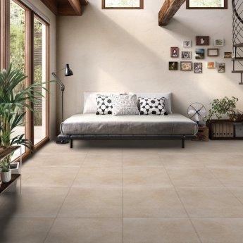RAK Lava Concrete Matt Tiles - 600mm x 1200mm - Beige (Box of 2)