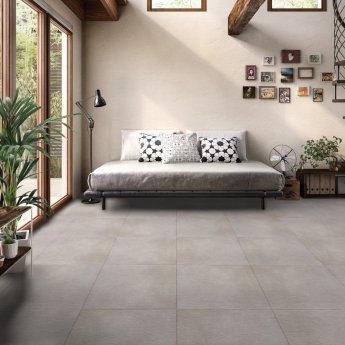 RAK Lava Concrete Matt Tiles - 600mm x 1200mm - Grey (Box of 2)