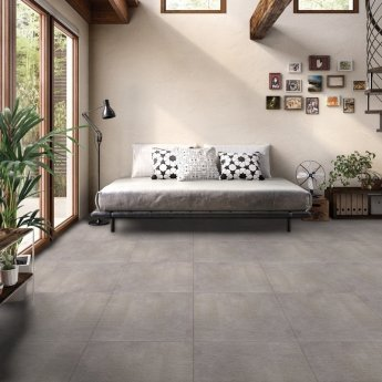 RAK Lava Concrete Matt Tiles - 600mm x 1200mm - Mix Grey (Box of 2)