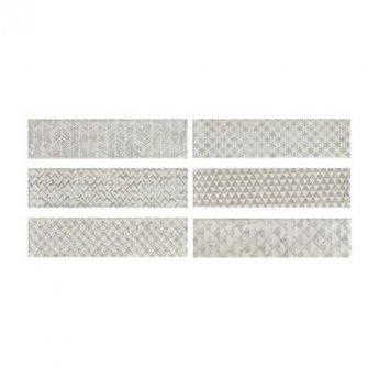 RAK Loft Brick High Gloss Decor Tiles - 65mm x 260mm - White (Box of 41)