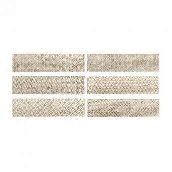 RAK Loft Brick High Gloss Decor Tiles - 65mm x 260mm - Warm White (Box of 41)