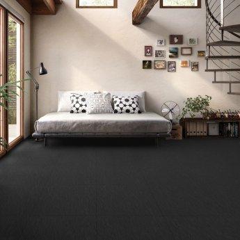 RAK Lounge Rustic Tiles - 600mm x 600mm - Black (Box of 4)