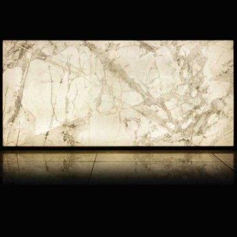 RAK Luce Full Lappato 6mm Translucent Tiles - 1200mm x 2600mm - Marble White (Box of 1)