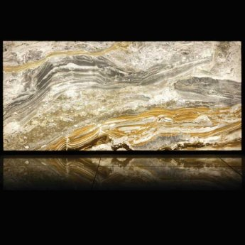 RAK Luce Full Lappato 6mm Translucent Tiles - 1200mm x 2600mm - Onyx Harlequin (Box of 1)