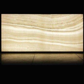 RAK Luce Full Lappato 6mm Translucent Tiles - 1200mm x 2600mm - Onyx White (Box of 1)