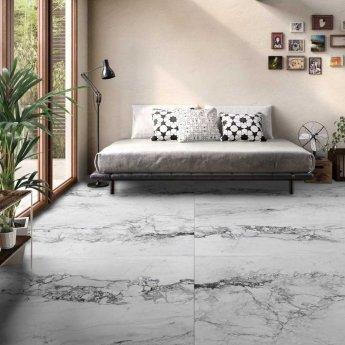 RAK Medicea Marble Full Lappato Tiles - 1200mm x 1200mm - White (Box of 2)