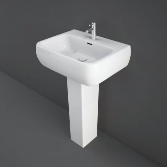 RAK Metropolitan Basin & Full Pedestal 520mm Wide 1 Tap Hole