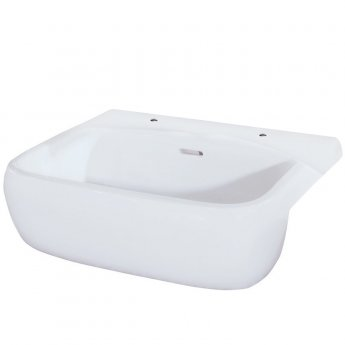 RAK Metropolitan Semi-Recessed Basin 520mm Wide 2 Tap Hole