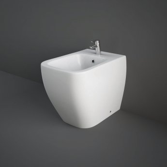 RAK Metropolitan Back to Wall Bidet 525mm Projection 1 Tap Hole Tap Not Included