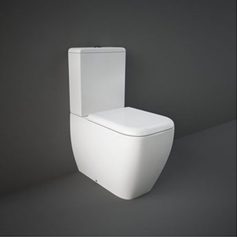 RAK Metropolitan Rimless Close Coupled Toilet with Dual Flush Cistern - Urea Soft Close Seat