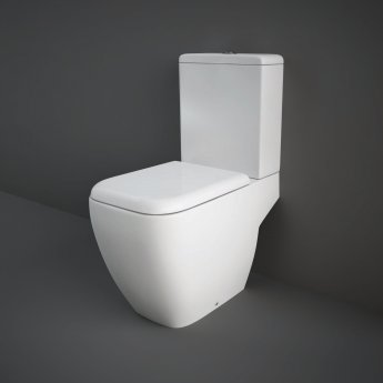 RAK Metropolitan Full Access Close Coupled Toilet with Push Button Cistern - Soft Close Seat