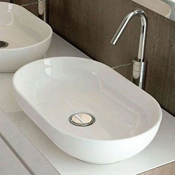 RAK Moon Sit-On Counter Top Basin 550mm Wide 0 Tap Hole
