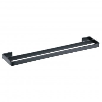 RAK Moon Double Towel Bar 600mm Wide - Black