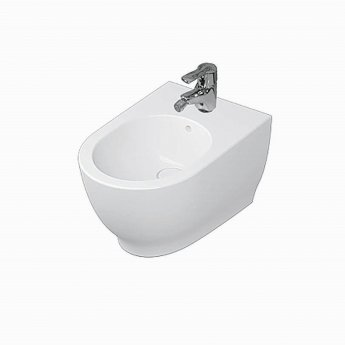 RAK Moon Wall Hung Bidet 560mm Projection 1 Tap Hole (Tap Not Included)