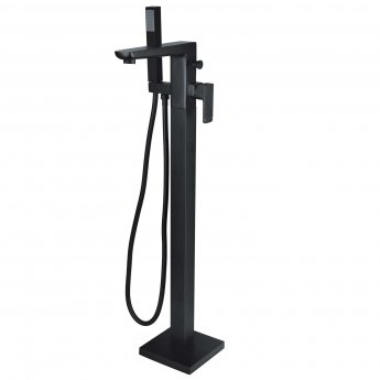 RAK Moon Freestanding Bath Shower Mixer Tap - Black