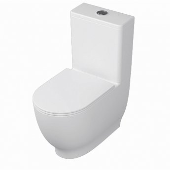 RAK Moon Close Coupled Toilet with Push Button Cistern - Soft Close Seat