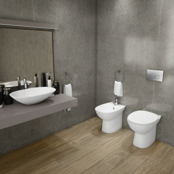 RAK Morning Rimless Back to Wall Toilet 520mm Projection - Soft Close Seat