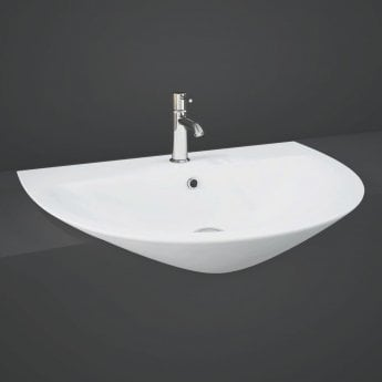 RAK Morning Semi Recessed Basin 550mm Wide - 1 Tap Hole