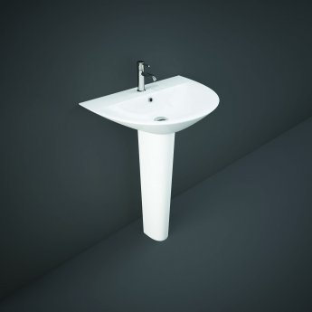 RAK Morning Basin with Full Pedestal 550mm W - 1 Tap Hole