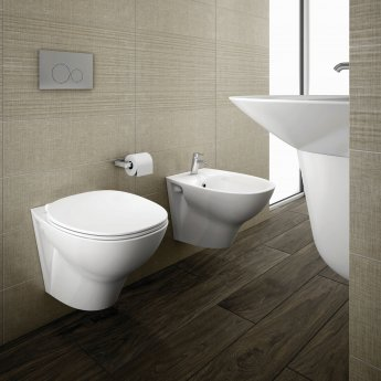RAK Morning Wall Hung Bidet 520mm Projection - Exposed Fitting