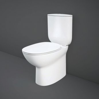 RAK Morning Rimless Back to Wall Close Coupled Toilet 640mm Projection - Soft Close Seat