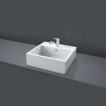 RAK Nova 460mm Sit on Countertop Basin 0 Tap Hole - White