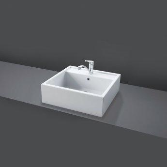 RAK Nova 460mm Sit on Basin - 0 Tap Hole - White