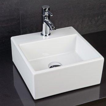 RAK Nova Mini Square 1 Tap Hole Basin - White