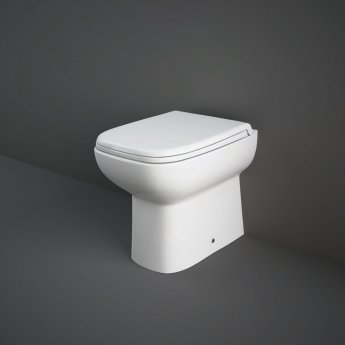 RAK Origin 62 Deluxe Back to Wall Toilet Pan 500mm Projection - Soft Close Seat