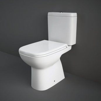 RAK Origin 62 Full Access Close Coupled Toilet with Push Button Cistern - Soft Close Seat