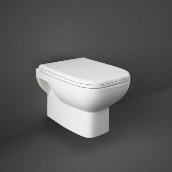 RAK Origin 62 Wall Hung Toilet 500mm Projection - Urea Soft Close Seat