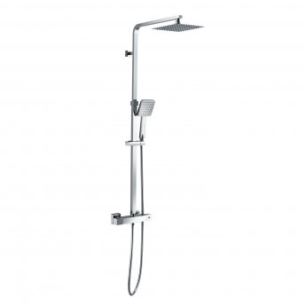 RAK Origin Thermostatic Square Bar Mixer Shower with Shower Kit + Fixed Head - Chrome