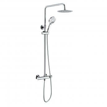 RAK Origin Thermostatic Round Bar Mixer Shower with Shower Kit + Fixed Head - Chrome
