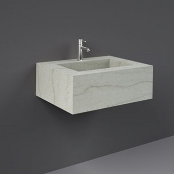 RAK Precious Wall Hung Console Wash Basin 630mm Wide 1 Tap Hole - Macaubus