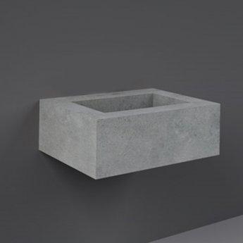 RAK Precious Wall Hung Console Wash Basin 630mm Wide 0 Tap Hole - Surface Cool Grey