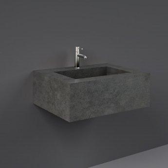 RAK Precious Wall Hung Console Wash Basin 630mm Wide 1 Tap Hole - Behind Grey