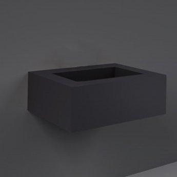RAK Precious Wall Hung Console Wash Basin 630mm Wide 0 Tap Hole - Uni Dark Black