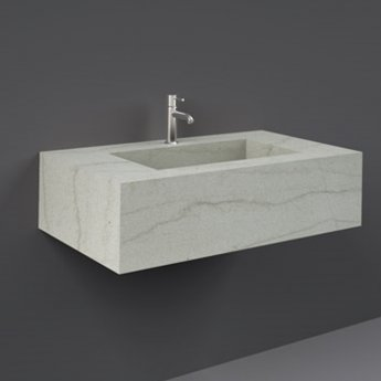 RAK Precious Wall Hung Console Wash Basin 830mm Wide 1 Tap Hole - Macaubus