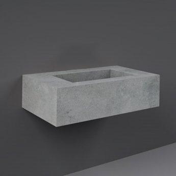 RAK Precious Wall Hung Console Wash Basin 830mm Wide 0 Tap Hole - Surface Cool Grey