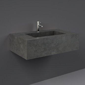 RAK Precious Wall Hung Console Wash Basin 830mm Wide 1 Tap Hole - Behind Grey