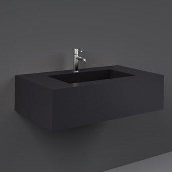 RAK Precious Wall Hung Console Wash Basin 830mm Wide 1 Tap Hole - Uni Dark Black