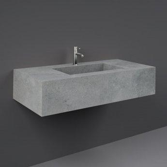 RAK Precious Wall Hung Console Wash Basin 1030mm Wide 1 Tap Hole - Surface Cool Grey