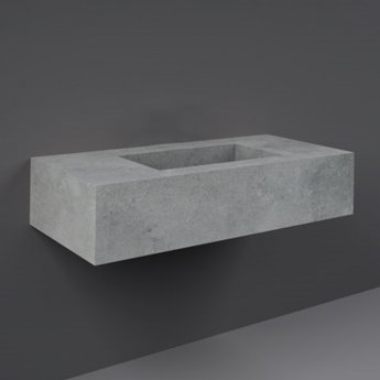RAK Precious Wall Hung Console Wash Basin 1030mm Wide 0 Tap Hole - Surface Cool Grey