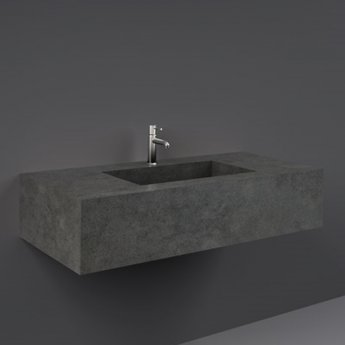 RAK Precious Wall Hung Console Wash Basin 1030mm Wide 1 Tap Hole - Behind Grey
