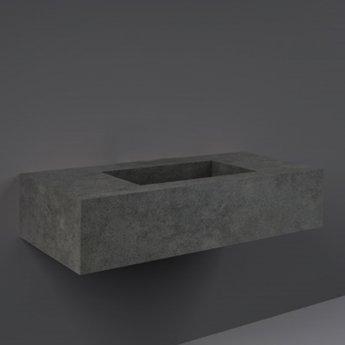 RAK Precious Wall Hung Console Wash Basin 1030mm Wide 0 Tap Hole - Behind Grey